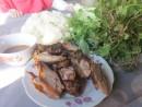 Hương vị xôi thịt quay cay xé lưỡi của Lào