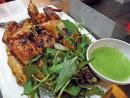 Món gà ướp lá hương thảo nướng