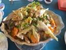 Thưởng thức gà hấp lá trúc ở An Giang