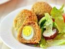 Thịt bọc trứng cút chiên