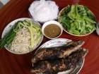 Về ngoại ăn cá lóc nướng trui