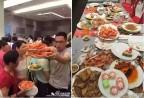 Hoảng hồn cảnh du khách Trung Quốc tranh nhau ăn buffet ở Nha Trang