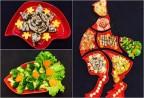 Tết Nguyên Tiêu năm Đinh Dậu với mâm cỗ gà đỏ rực rỡ đầy may mắn