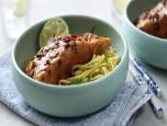 Mì cá hồi teriyaki kiểu Nhật độc đáo cho cơ thể khỏe mạnh