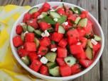 Trổ tài cùng Salad dưa hấu và dưa chuột độc đáo