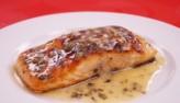 Cá hồi áp chảo xốt chanh bơ