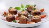 Bò cuộn ba rọi xông khói chiên
