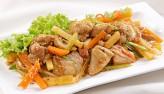 Khoai tây xào kim chi