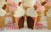 Cupcake ốc quế ngon ngon lạ mắt