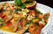 Món cá hồi xốt chanh dây thơm ngon