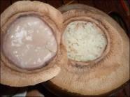 Cơm hấp nước dừa món ngon đãi khách