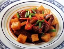 Thịt gà kho củ cải