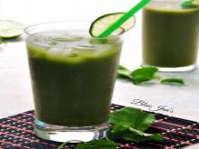 Sinh tố rau má đậu xanh