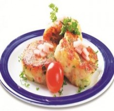 Jambon và khoai tây nghiền áp chảo