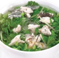 Cá rô nấu cải bẹ xanh