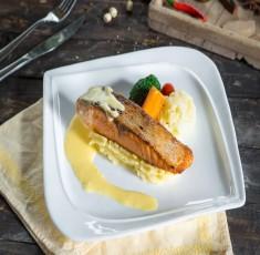 """""""Sang mồm"""" với món cá hồi sốt bơ béo ngậy, thơm lừng"""