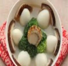 Canh trứng cút