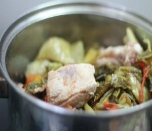 Cách làm dưa cải nấu chân giò thơm ngon, đậm vị