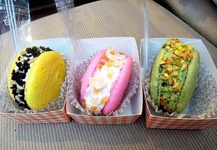 Thưởng thức macaron kem lạnh tại Seoul