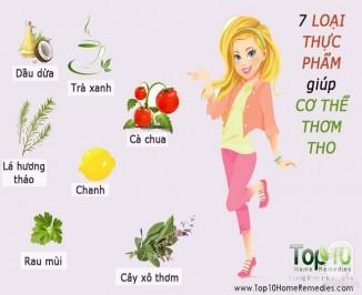 Top thực phẩm khiến cơ thể bạn luôn thơm tho