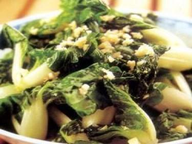 Rau cải thìa trộn thịt