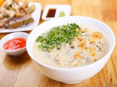 Cháo ngao bổ dưỡng cho bữa ăn phụ