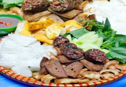 Bún đậu lòng rán, món ăn cho ngày đông ở Hà Nội