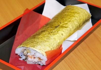Món sushi bọc vàng cho người thừa tiền
