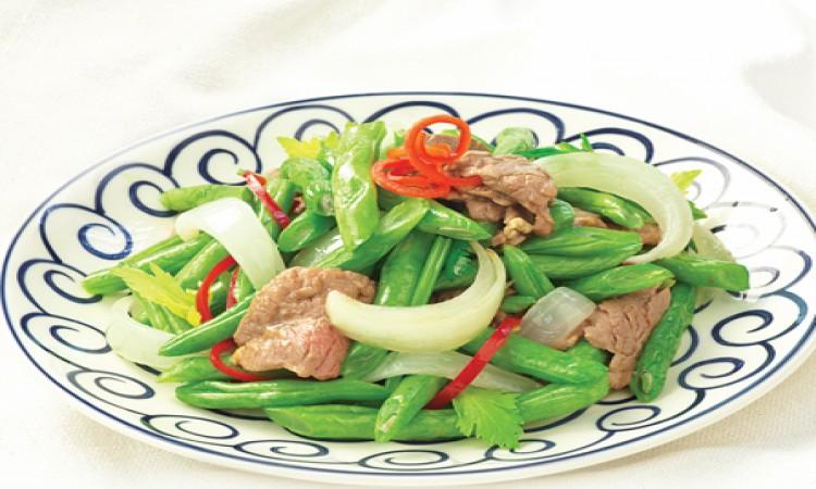 Thịt bò xào đậu cove