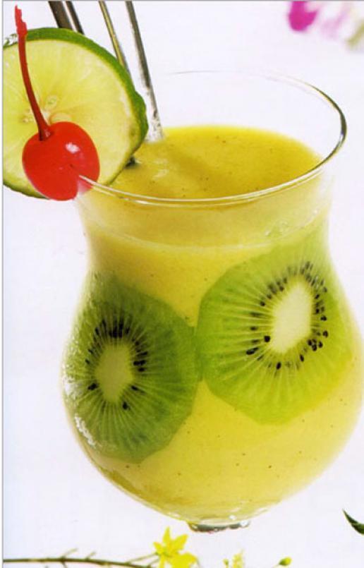 sinh tố kiwi-xoài mát lành cho ngày hè