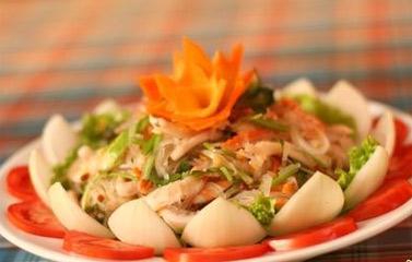 salad miến hải sản
