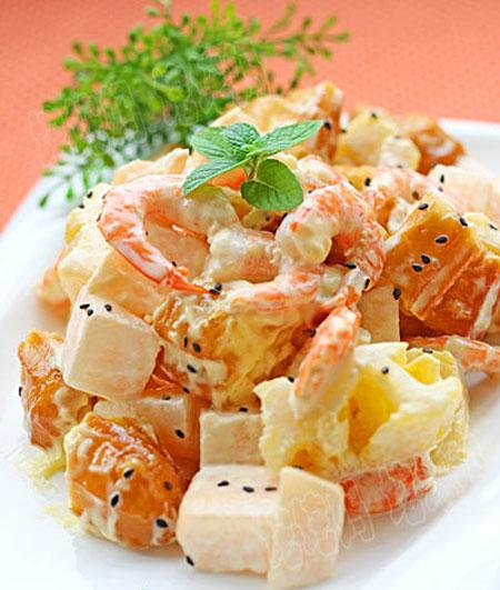 Salat tôm quẩy