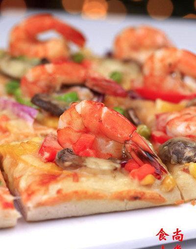Cách làm Pizza tôm tươi và nấm