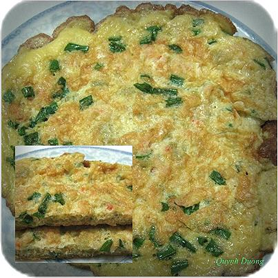 Cách làm món trứng tráng cốm tôm