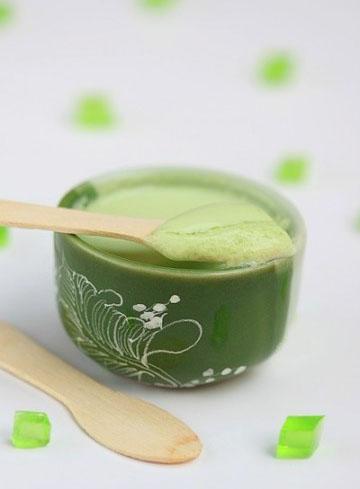 Green tea jelly yogurt. - Sinh tố ngon cho ngày hè năng động