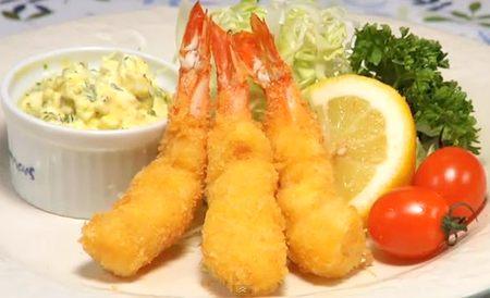 Món ngon bữa trưa: Tôm lăn bột kiểu Nhật