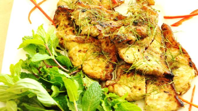 Lườn cá ngừ nướng