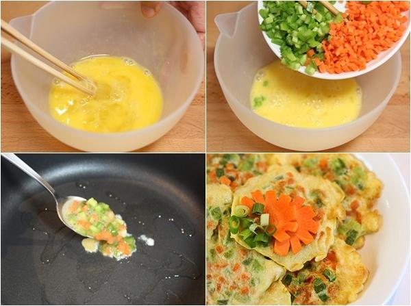 Trứng chiên rau củ