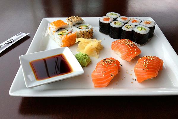 Sushi diem hap dan trong am thuc Nhat Ban