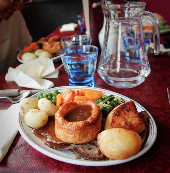 Thịt bò quay và pudding Yorkshire, Anh