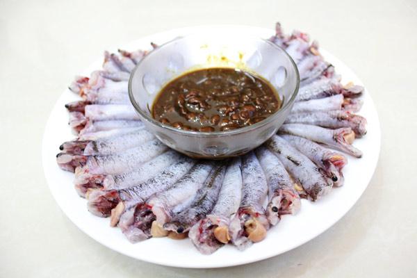 Cá bống dừa và tương hột