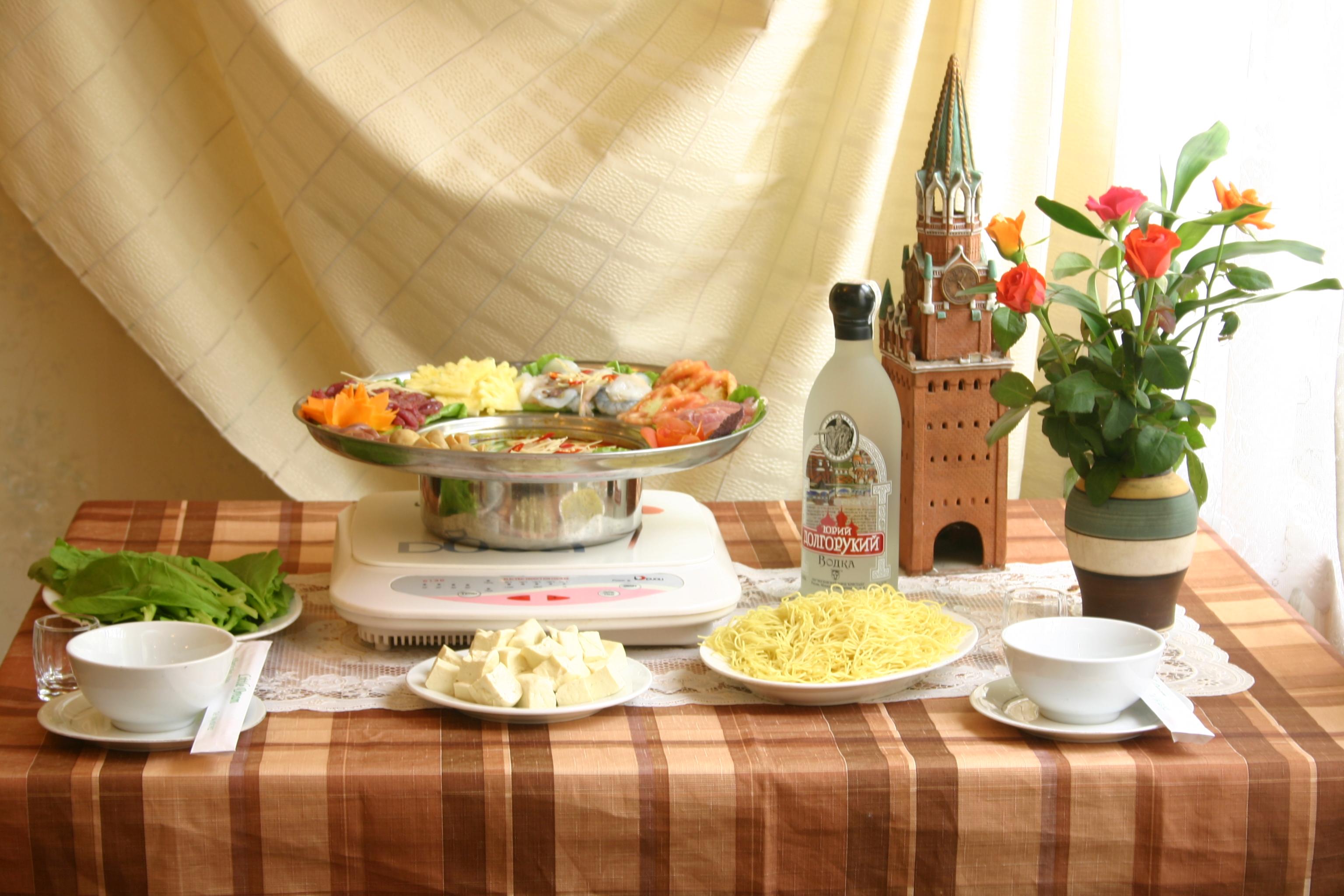 Thực đơn nhà hàng Moscow phong phú đa dạng