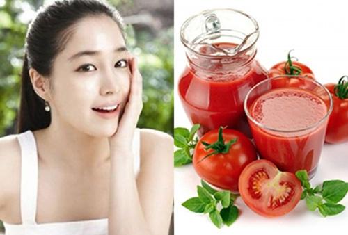làm đẹp với cà chua
