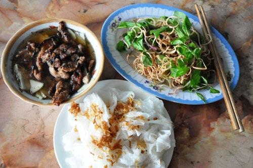 Bánh cuốn chả Hà Nam