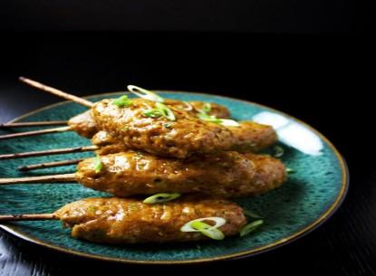 Chả gà nướng xiên kiểu Nhật