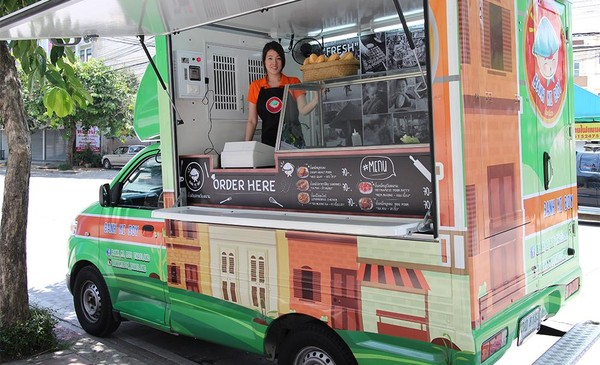 xe bánh mỳ lưu động ở Thái