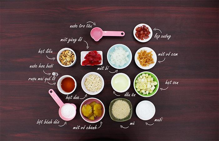 Tự làm bánh Trung Thu nhân thập cẩm đơn giản và siêu nhanh