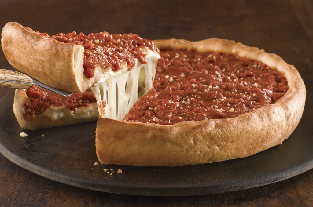 Deep-dish pizza