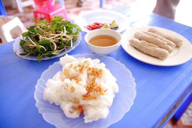 Mướt Diễn Châu ăn kèm với giò Đô Lương