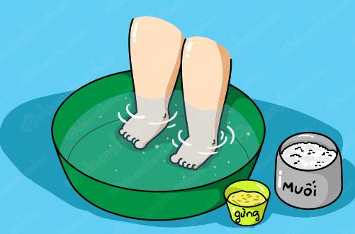 Ngâm chân bằng nước gừng để trị ho – Các chuyên gia nói gì?2